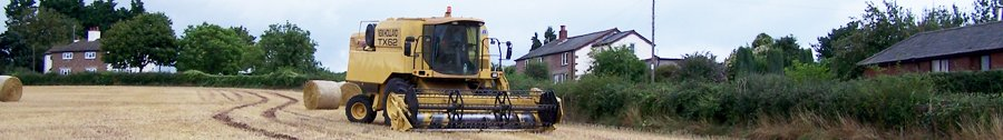 Combine Harvester at Old Gore 20-8-2006