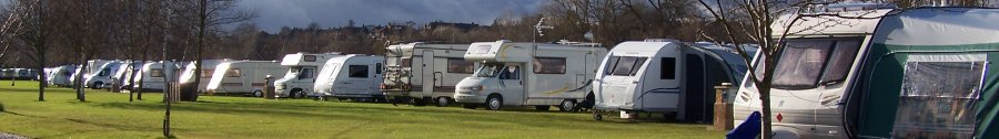 Caravans at Broadmeadows caravan park
