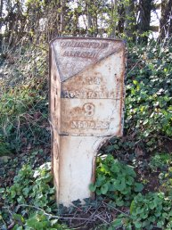 Wilton (Bridstow Parish) mile marker - 9 miles to Monmouth