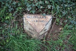 Harewood End (Hentland Parish) mile marker