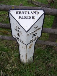 Pengethley (Hentland Parish) mile marker