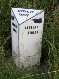Redmarley mile marker right
