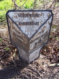 Weston-under-Penyard (Weston Parish) mile marker