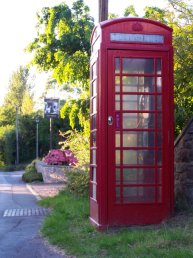 The phone box at Linton