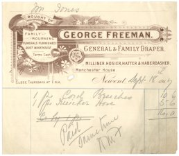 George Freeman receipt