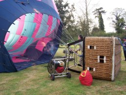 Air balloon hot air inflation