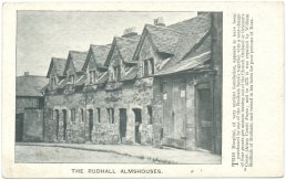 A Postcard of Rudhall Almshouses
