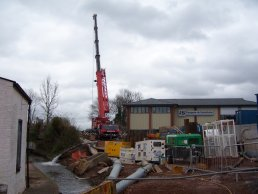 Fiveways crane lowering (29-02-08)