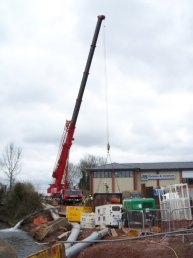 Fiveways crane lift preparations (29-02-08)