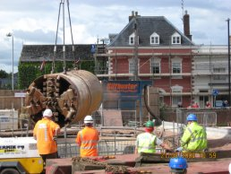 The tunnelling machine being removed (21-08-08)