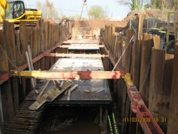 Work on the culvert at Fiveways (11-03-08)