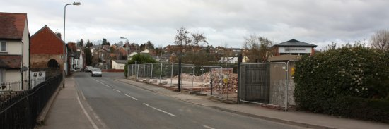 The cleared site seen from Millpond Street (22-2-09)