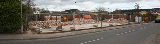 The cleared site from the north on Millpond Street (22-2-09)