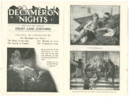 Decameron Nights in the New Theatre