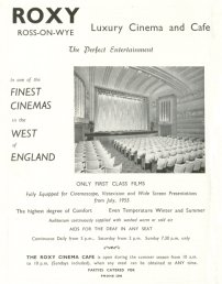 Roxy Cinema advert