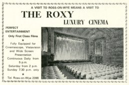 Small Roxy Cinema advert