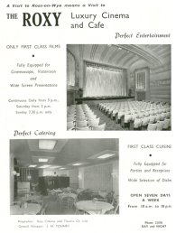 Roxy Cinema and Cafe advert