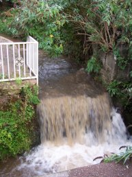 The weir for Brookend Mill at Five Ways