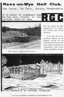 Advert for the building of the Golf Club