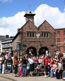 Market House with crowds