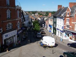 View down from the Market House