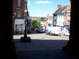 View out from the Market House