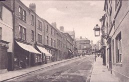 An old photo of Broad Street Ross-on-Wye