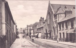 A postcard view of Gloucester Road Ross-on-Wye