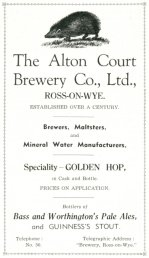 Alton Court Brewery advert c. 1938