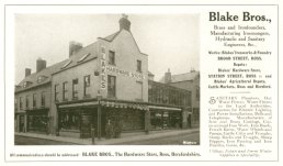 Blake Bros advert