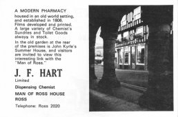 Harts the Chemist advert