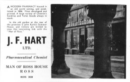 J.F.Hart advert 1970s