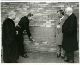 Stone laying at Methodists Church