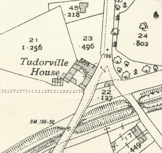 The site of Tudorville House