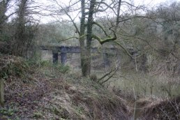 The east side of the Welsh Bicknor Bridge (03-01-2011)