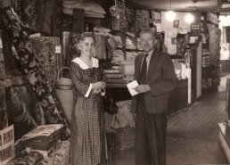 Inside Heals shop in 1957