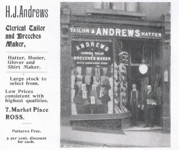 Andrews Tailor and Hatter