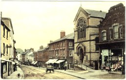 A postcard of the lower part of Broad Street