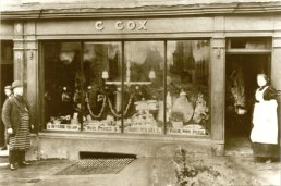 C Cox butchers shop