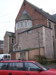 The rear of the Ross United Reformed Church