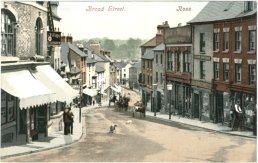 A postcard of Broad Street