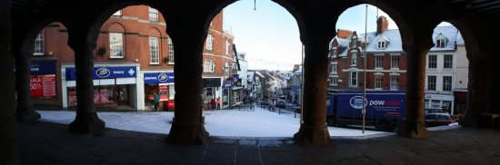 Market Place in the snow