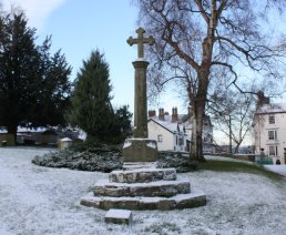 Plague Cross in the snow