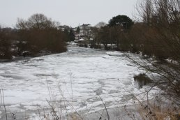 Closeup of ice on the Wye