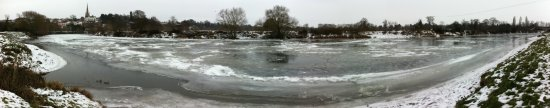 Ice on the River Wye above the Rowing Club