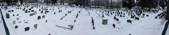 St. Marys church yard in the snow