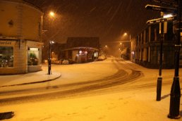 Cantilupe Road in the snow