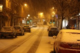 Gloucester Road in the snow