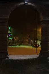 The Market Place in the snow