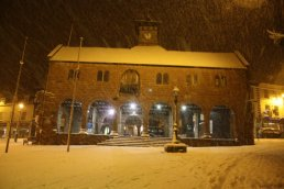 The Market House in the snow